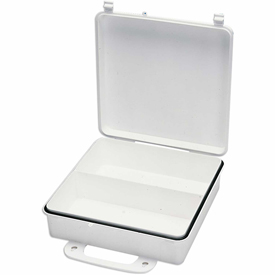 First Aid Box Polypropylene W/ Gasket And Partition - 9-1/16x2-3/8x9-1/16 - Pkg Qty 24