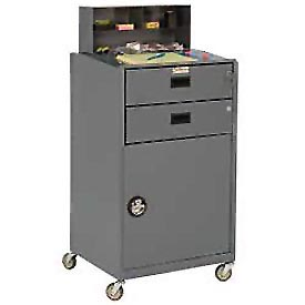"Durham FED-2023-95 23""W x 51""H Mobile Shop Desk - Closed"
