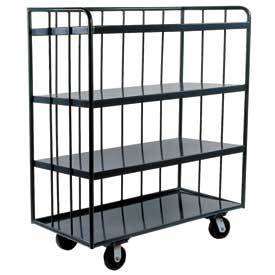 Durham Mfg.® Three-Sided Shelf Truck OPT-4824-95 48 x 24