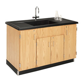 Diversified Woodcrafts Science Clean-Up Sink with Oak Cabinet Base