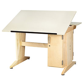 Drafting/Drawing Table with Vertical Tower Storage
