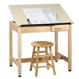 "Drafting Table 36""L x 24""W x 30""H 1 Piece Top Small Drawer by"