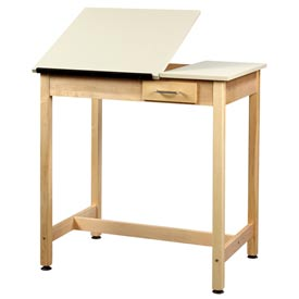 "Drafting Table 36""L x 24""W x 36""H 2 Piece Top Small Drawer by"
