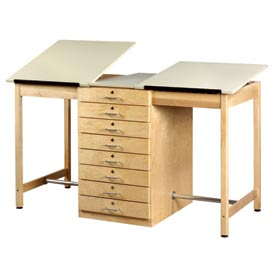 "Drafting Table 70""L x 32-1/2""W 2 Station w/ 8 Drawers by"