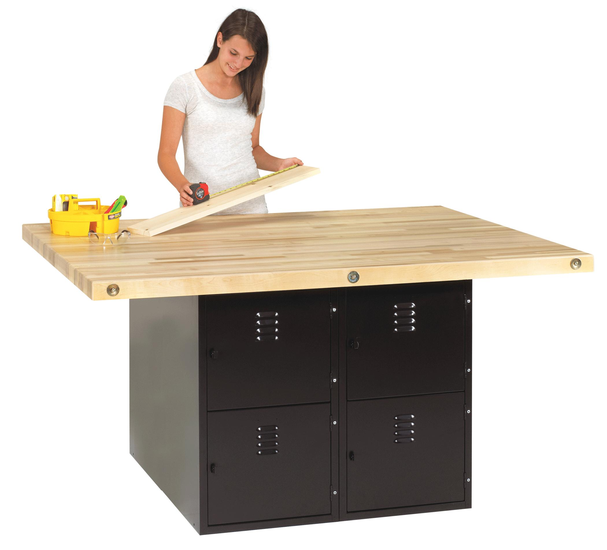 Cabinet Work Benches Heavy Duty 4 Station Workbench