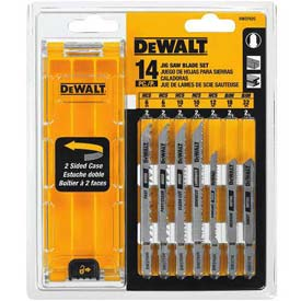 DeWALT® T-Shank Jig Saw Blade Set, DW3742C, 14 Pieces W/Case