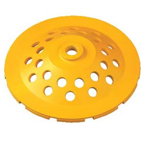 "DeWALT Extended Performance 2 Row Diamond Cup Grinding Wheel, DW4773, 7"" Diameter, 8,600 RPM by"