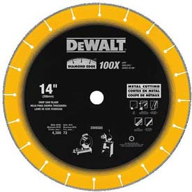 "DeWALT Diamond Edge Chop Saw Blade, DW8500, 14"" Diameter, 4,300 RPM by"