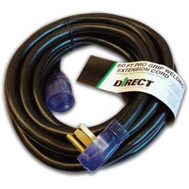Direct Wire 8/3 Ext Cord, LIT, BLK, 50'