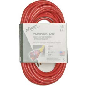 Direct Wire 12/3 Xcords Red 50' LIT