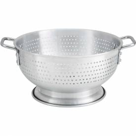"Winco ALO-11BH Colander W/ Base, 11 Qt, 15""D, Aluminum Package Count 6 by"