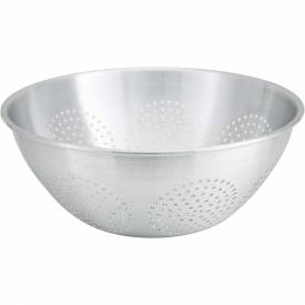 "Winco ALO-16 Chinese Style Colander, 16 Qt, 16""D, Aluminum Package Count 12 by"