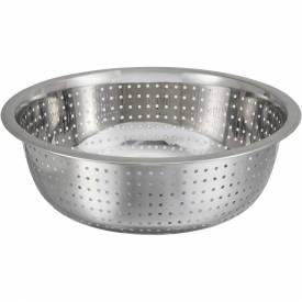 "Winco CCOD-11S Chinese Style Colander, 11""D, Stainless Steel Package Count 24 by"