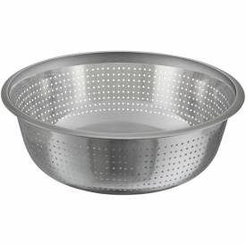 "Winco CCOD-15S Chinese Style Colander, 15""D, Stainless Steel Package Count 12 by"