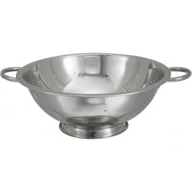 """Click here to buy Winco COD-14 Colander W/ Base, 14 Qt., 14""""D, Stainless Steel Package Count 12."""