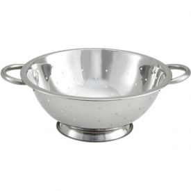"Winco COD-3 Colander W/ Base, 3 Qt., 10""D, Stainless Steel Package Count 12 by"