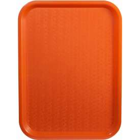 "Winco FFT-1014O Fast Food Tray, Orange, 10""x 14"" Package Count 12 by"