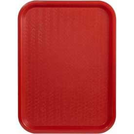 "Winco FFT-1014R Fast Food Tray, Red, 10"" x 14"" Package Count 12 by"
