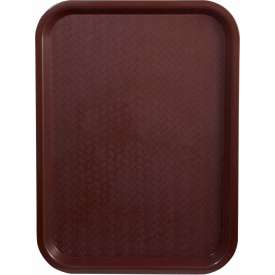 "Winco FFT-1014U Fast Food Tray, Burgundy, 10""x 14"" Package Count 12 by"