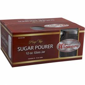 Winco G-302 Sugar Pourers W/ Flap Tops by