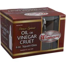 Winco G-304 Oil & Vinegar Cruets W/ Cone Tops by