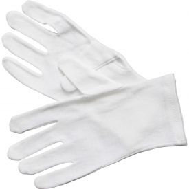 Winco GLC-M Cotton Gloves, Medium, White