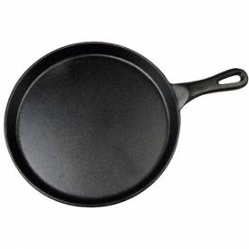 """Winco IGL-10 Cast Iron Grill Pan, Round, 10"""" Diameter Package Count 8 by"""