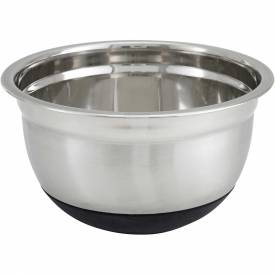 "Click here to buy Winco MXRU-500 Mixing Bowl W/ Silicone Base, 5 Qt, 10-1/4""D Package Count 24."
