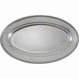 """Winco OPL-14 Oval Platter, 14""""L, 8-3/4""""W, Stainless Steel, Oval Package Count 10 by"""