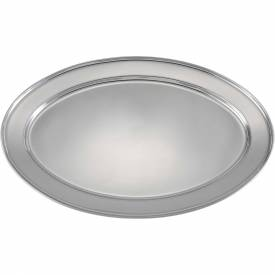 """Winco OPL-22 Oval Platter, 21-3/4""""L, 14-1/2""""W, Stainless Steel, Oval Package Count 12 by"""