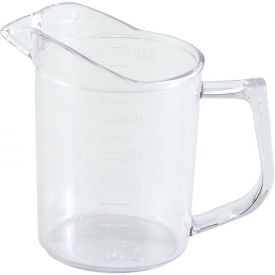 Winco PMU-25 Measuring Cup, 1 Cup, Clear, Polycarbonate Package Count 36 by