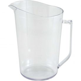 Winco PMU-400 Measuring Cup, 4 Qt, Clear, Polycarbonate Package Count 12 by