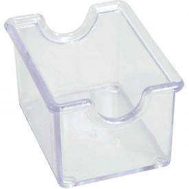 "Winco PPH-1C Sugar Packet Holders, 3-1/2""L, 2-1/2""W, 2""H, Clear, Plastic by"