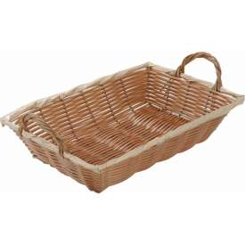 Winco PWBN-12B Rectangular Woven Basket with Handles Package Count 12 by