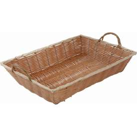 Winco PWBN-16B Rectangular Woven Basket with Handles Package Count 12 by