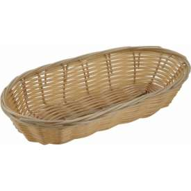 Winco PWBN-9B Oblong Woven Basket Package Count 3 by