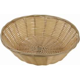 Winco PWBN-9R Round Woven Basket Package Count 3 by
