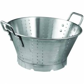 "Click here to buy Winco SLO-16 Colander W/ Base, 16 Qt., 16-1/2""D, Stainless Steel."