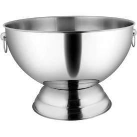 Winco SPB-35 Punch Bowl W/ Handles, 14 Qt., Stainless Steel Package Count 6 by