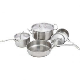 Winco SPC-7H Deluxe Cookware Set, 7 Piece by