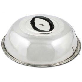 """Winco WKCS-15 Wok Cover, 15-3/8"""" D, Stainless Steel Package Count 12 by"""