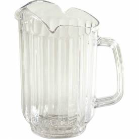 Winco WPCT-60C 3 Spout Water Pitcher, Polycarbonate Package Count 12 by