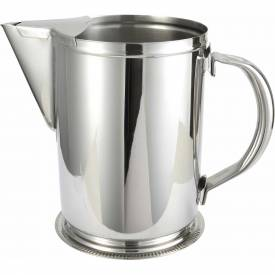 """Winco WPG-64 Water Pitcher W/ Guard, 64 oz, Stainless Steel, 7""""H Package Count 12 by"""