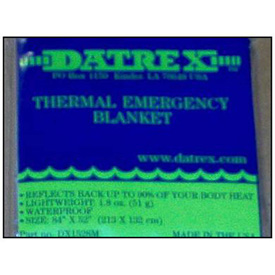 Datrex Thermal Emergency Blanket, 1/Case DX1528M by