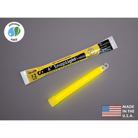 """Datrex 6"""" SnapLight Light Sticks, Yellow 1/Case ER0051M-YW Package Count 10 by"""