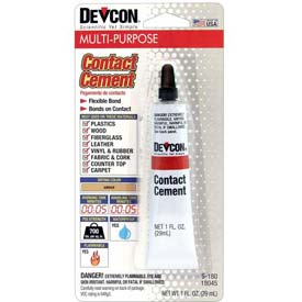 Devcon Contact Cement (S-180), 18045, 1 Oz. Tube by