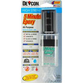 Devcon 5 Minute Fast Drying Epoxy (S-208), 20845, 25ml Syringe by