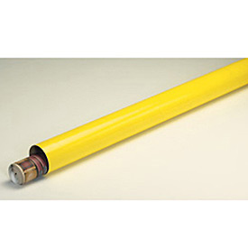"Mailing Tube With Cap, 36""L x 3"" Diameter x 0.07 Wall Thickness, Yellow, 24 Pack"