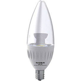 Earthtronics 10060 B11 Candle Style LED Bulb, 4.9W, 2700K, 315 Lumens, 250 Deg. Beam Angle by