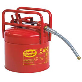 "Eagle D.O.T. Approved Transport Can with 5/8""Flexible Hose Type II Red 5 Gal., 1215SX5"